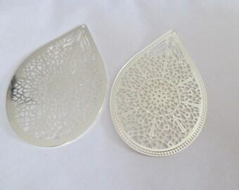 prints 2 drop silver shiny 49 x 32 mm