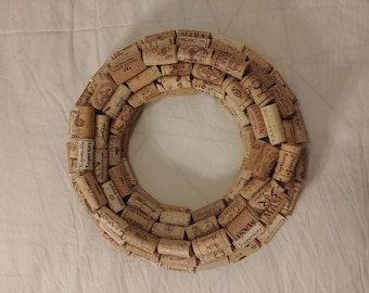 Concentric Wine Cork Wreath