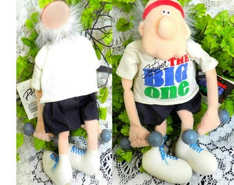 over the hill gift -old man humor - old man birthday gift - Birthday joke gift - old man gag gift -getting old gift -plush doll - # 68