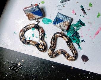 Salvador Dali Surr-earings // Polymer Clay Earrings