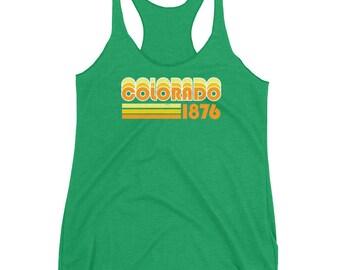 Colorado Tank Top | Colorado Tank | Colorado Gift | Retro Colorado Tank | Colorado Racerback | Vintage Colorado | Vintage Tank Top