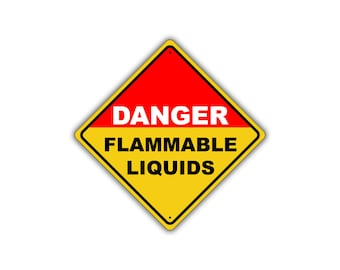 Danger Flammable Liquids OSHA Hazardous Metal Aluminum Safety Sign 12x12