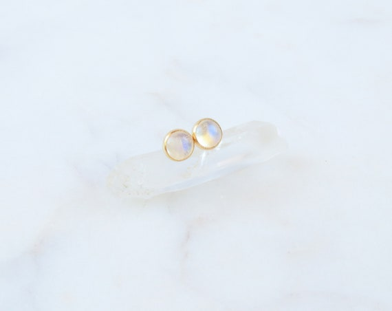 Moonstone Earrings | Rainbow Moonstone | Gemstone Earrings | Bridal Jewelry | June Birthstone | Birthday Gift | Gift for Her