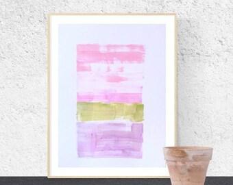 abstract painting original, rosa, Wall Art, white, abstract art