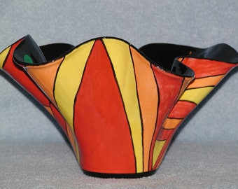 Abstract Enamel Bowl