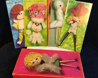 Vintage the Studio Box All-Occasion Greeting cards humorous kitsch mod birthday get well baby