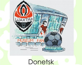 "Cross stitch pattern ""Donetsk"" Cross Stitch Instant Download PDF Modern Crossstitch Pattern"