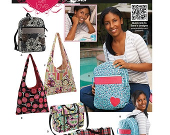Simplicity Pattern 1823 Designer SARA Totes, Backpacks & Carry-Ons Uncut FF RARe Travel Accessories Sewing Patterns Sew Supplies