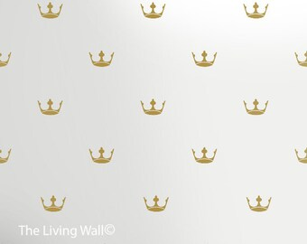 Vinyl Wall Sticker Decal Home, Gold Princess Crowns