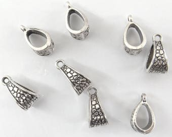 10 bails in antique silver for pendant bd014 triangles