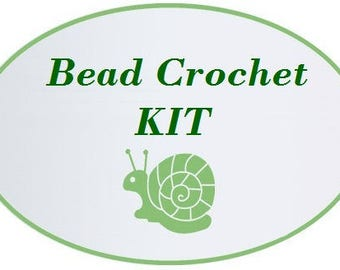 Kit to Make Bead Crochet Necklace For any Inulitka Pattern toho 11/0 seed beads Jewelry Making Kit Crochet Necklace