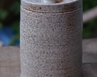Lidded Canister Jar, gas and soda fired, 15.5cm tall