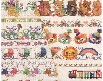 Cross Stitch BABY Borders - American School of Needlework