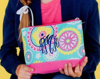 Monogrammed cosmetic bag, monogram make up bag, piper cosmetic bag, monogrammed gifts for girls, gift ideas under 20, Christmas gifts
