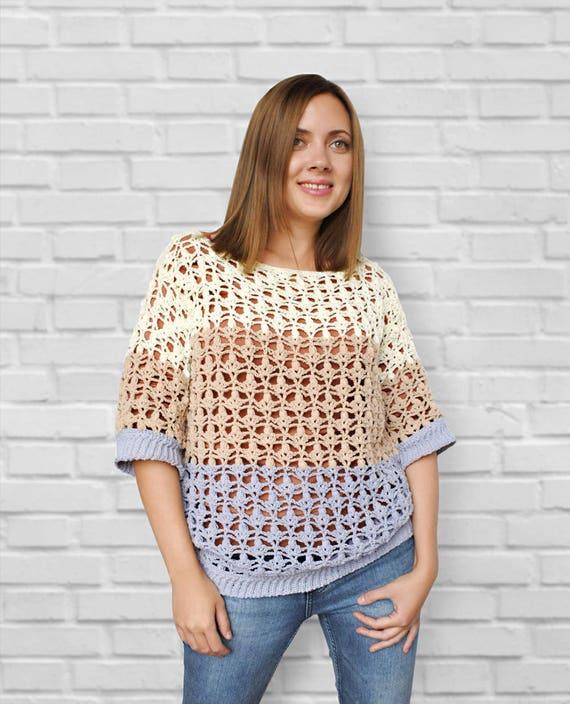 Crochet Pdf Pattern Crochet Sweater Pattern Crochet Pullover