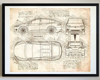 Tesla model 3 2018 da vinci sketch tesla artwork blueprint tesla model x 2015 17 da vinci sketch tesla artwork blueprint malvernweather Choice Image