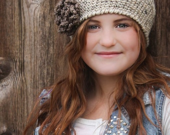 Crochet Hat PATTERN: Crochet Beret, Winter Crochet Accessory, 'Sofia Belle Beret'