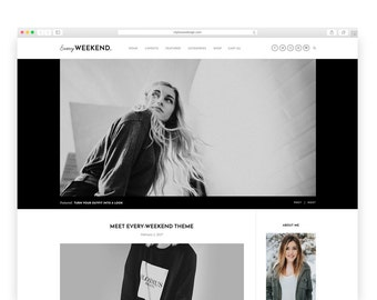 Every Weekend - Wordpress Theme - Wordpress Template - Shop template - photography template - blog template - woocommerce theme