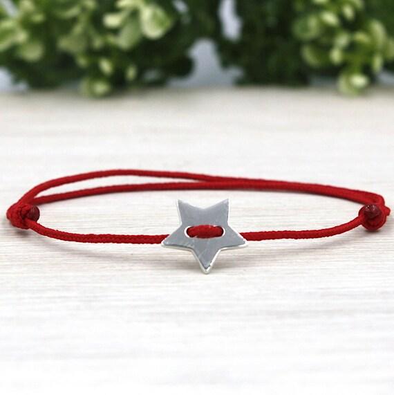 Star 925 sterling silver cord bracelet for women