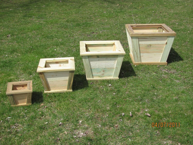 Wooden outdoor planter flower box rustic planter wood zoom workwithnaturefo
