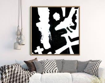Minimalist Poster, Abstract Wall Art, Abstract Print, Black Abstract Print, Monochrome Print, Home Decor, Wall Decor, Digital Download