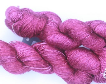 Hand Dyed Lace Weight Yarn 55/45 BFL/Silk - A Domestic