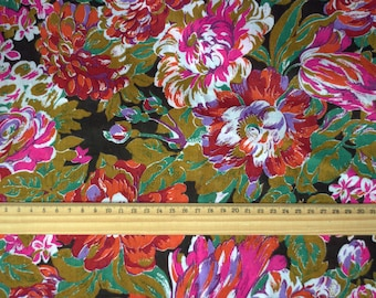 SALE Soviet Fabric Craft Cotton Vintage Flowers Retro 3.8 Yards Vintage Fabric for sewing Textile Floral Home Exclusive Soviet Fabric