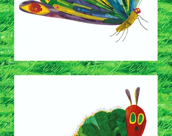 "The Very Hungry Caterpillar Butterfly and Caterpillar 23.5""x44"" PANEL from Andover Fabrics by Eric Carle"