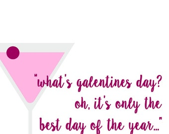 """Galentine's Day Card - """"The Best Day of the Year"""""""