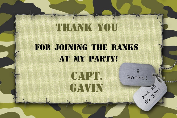Camo thank you card printable customized military boys zoom bookmarktalkfo Image collections