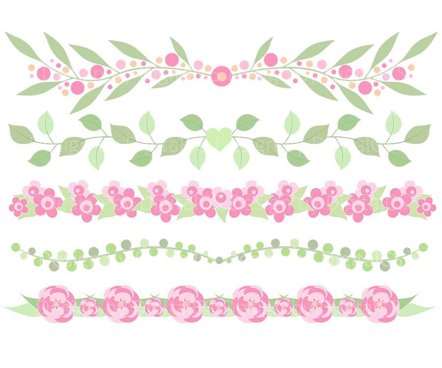 Flower border clipart flower border clip art digital flower zoom mightylinksfo