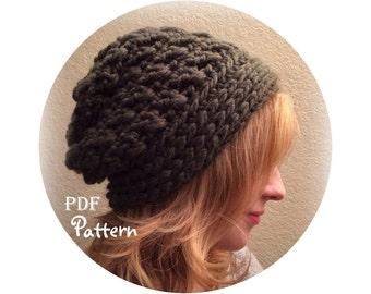 PDF CROCHET PATTERN - Make It Yourself:  The Shelby Slouchy Beanie Crochet Pattern, Digital Download, Lots of Photos, Boho Style, Trendy