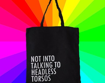 Headless Torsos Gay Tote Bag Canvas Tote Bag Black Tote Bag Handbag