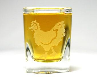 Chicken Shot Glass - hen shooter