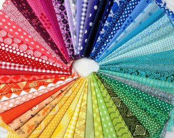54 Color Wheel - Fat Eighths - Quilting Fabric Bundle
