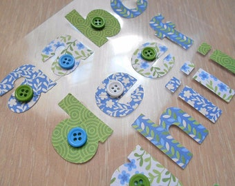 Fabric decals stickers ALPHABET card making, scrapbooking, new Board