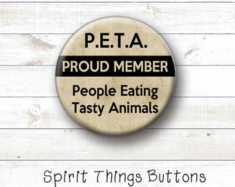 BACON Lover Button - Meat Lover - 1 inch pinback button or magnet
