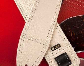 Simply Classy Bone Leather Guitar Strap