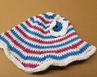 Baby floppy cotton sunhat