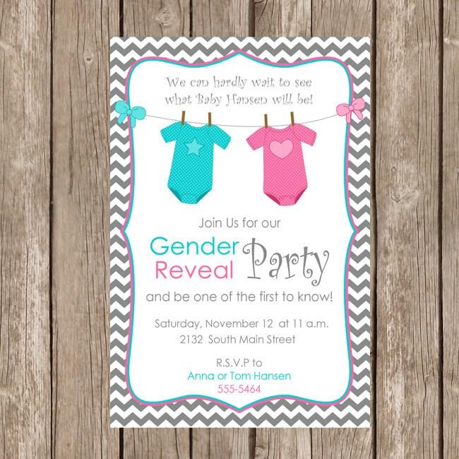 Gender reveal invitation baby reveal invite printable zoom stopboris Image collections