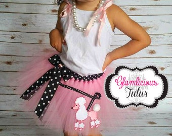Pink Poodle Skirt tutu  newborn- Adult listing Poodle skirt 