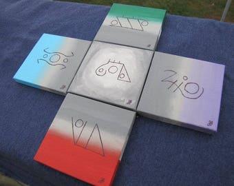 Elemental Sigil Painting Set of 5