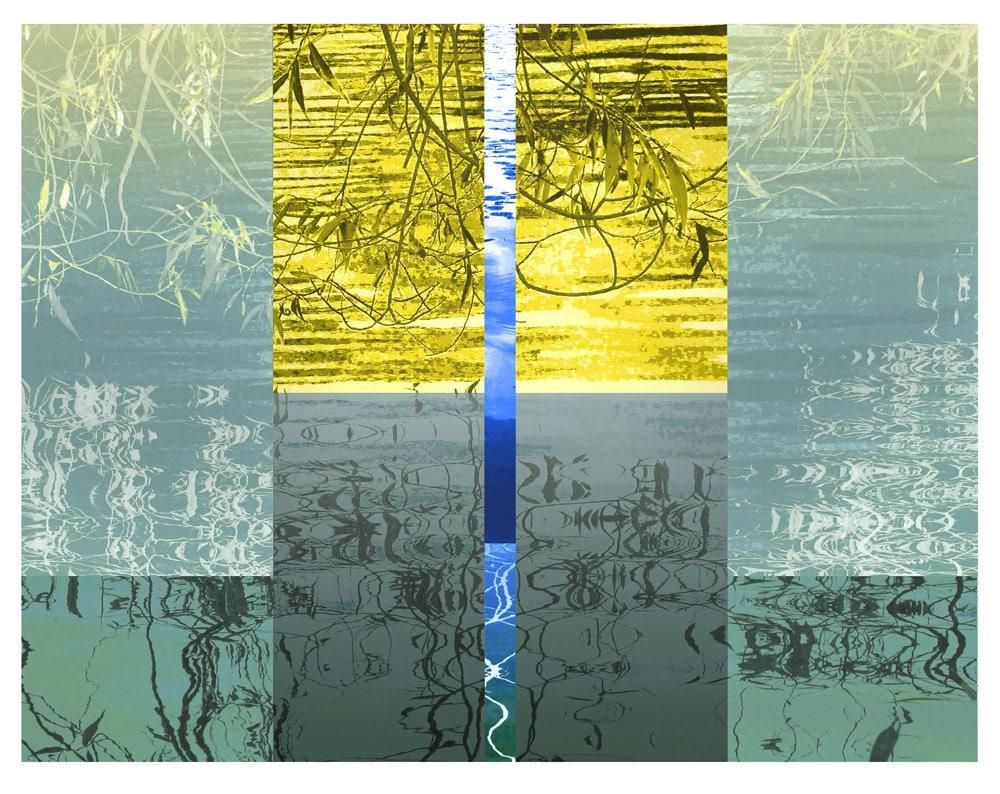 Water Kimono wall art waterscape floating world iskra fine