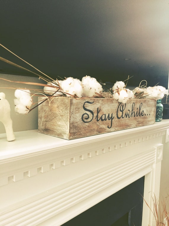 Farmhouse Decor, Rustic wood box, Rustic decor box, Fireplace mantle decor, Farmhouse Mantle, Rustic sign box, Personalized rustic decor