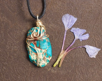Bohemian Turquoise Wire Wrap