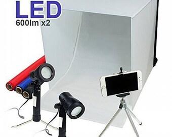 "Studio Light Box Kit 16"" x 16"" Table Top Photo Photography Studio Lighting Light Tent Kit in a Box USA Seller"