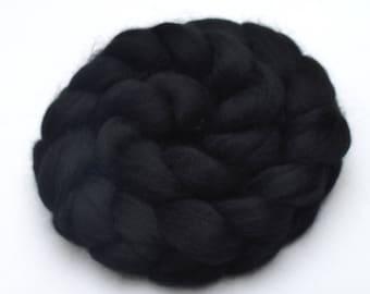 BFL Wool Combed Top Black - Heritage Breed - 100 grams
