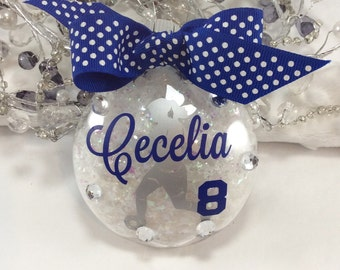 Soccer Girl Ornament, Personalized, Gifts for Soccer