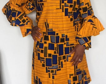 """African print dress """"Bela"""""""