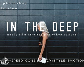 In The Deep Moody Modern Photoshop Actions for Modern Photography & Photo Editing